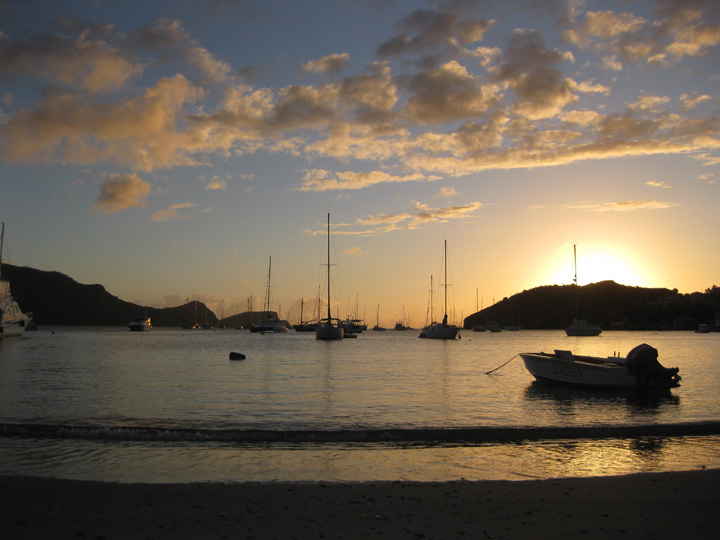 bequia sunset, spring 2011